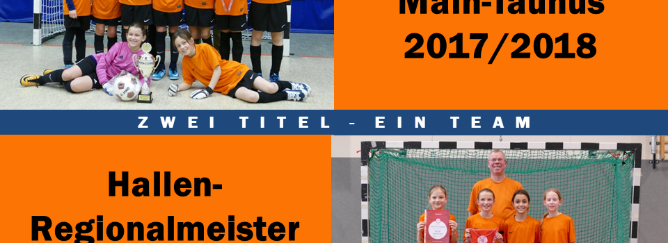 U11-Juniorinnen holen das Double in der Halle