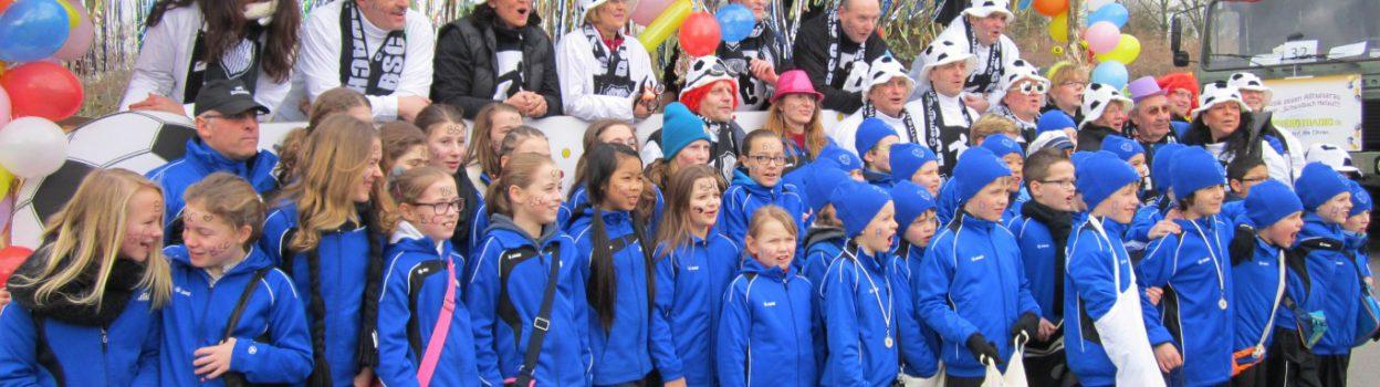 Die Jugendabteilung beim Schwalbacher-Faschingsumzug!