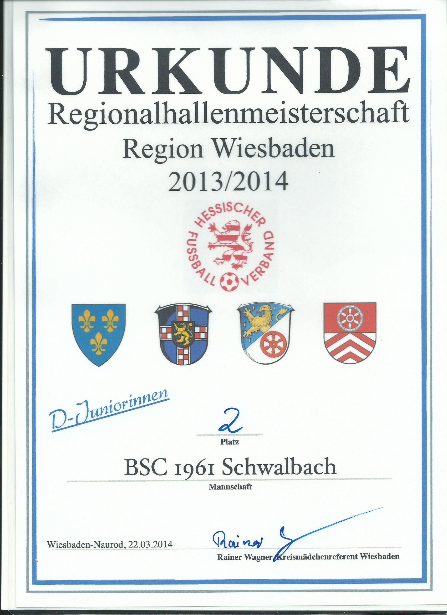 U12 holt den zweiten Platz bei der Hallenregionalmeisterschaft!